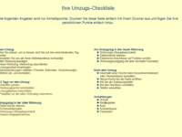 Umzugs-Checkliste